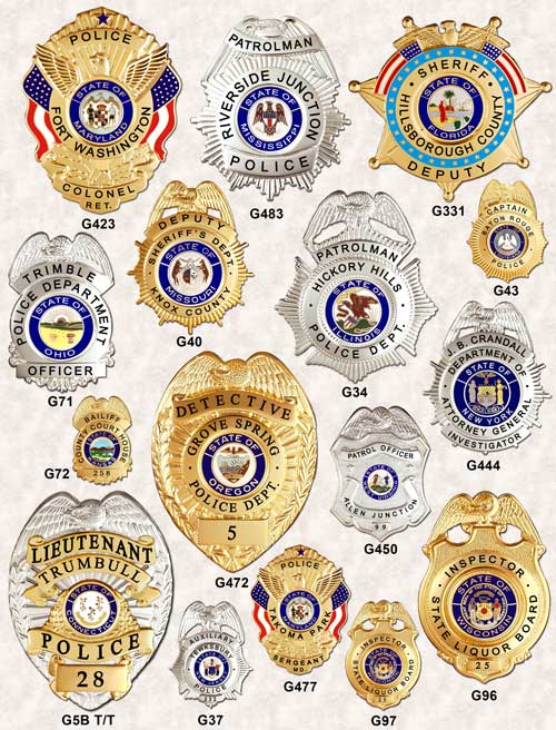 Police Badges Eagle top GA-REL page 4 GAREL