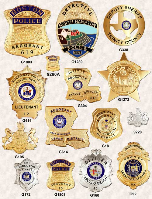 police badges GA-REL BADGE SHIELDS PAGE 3 GAREL