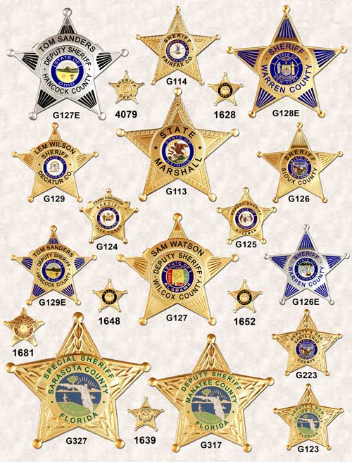 GA-REL 5 point Star Badges Page 1 GAREL