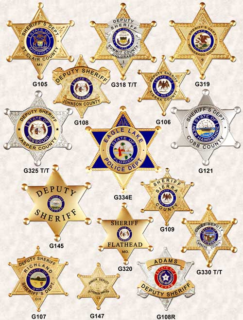 GA-REL Star Badges 6 pt page 2 GAREL police badges