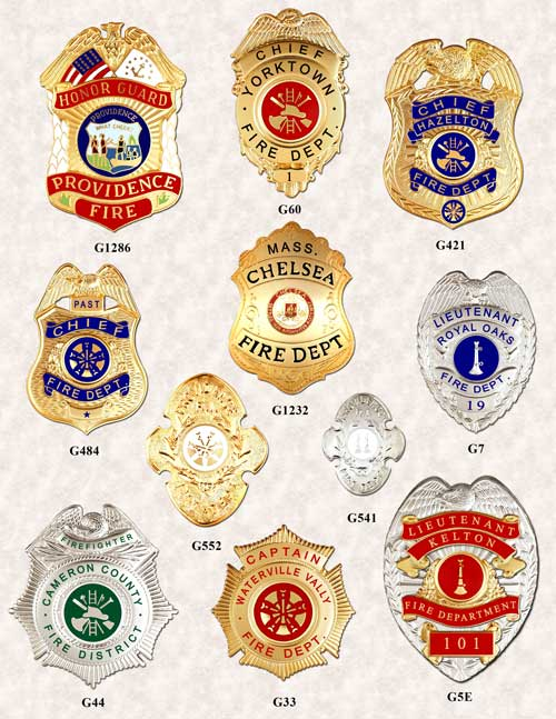 Fire Department Badges 1