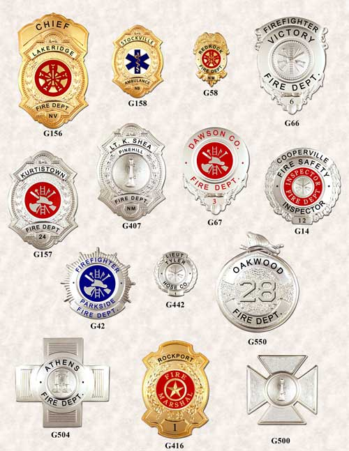 Fire Dept Badges Page 2