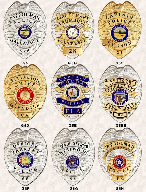 G5 PANEL Police BADGES GAREL GA-REL