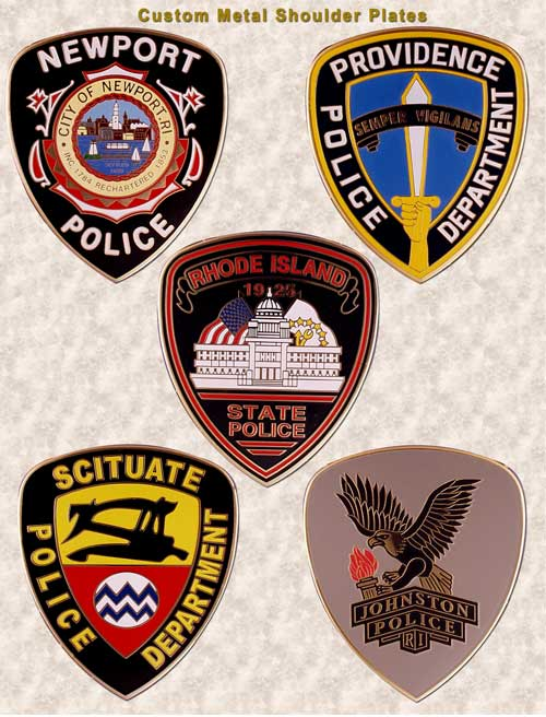 Metal shoulder plates patches